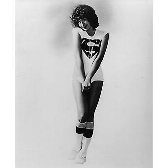 Barbra Streisand wearing a superman t-shirt Photo Print