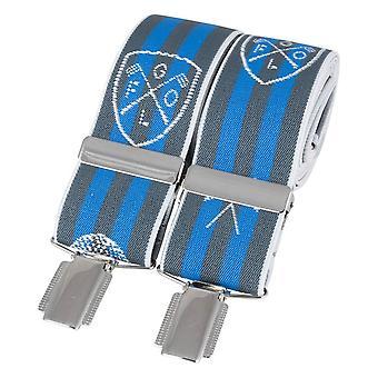 David Van Hagen Golf bretels - grijs/blauw