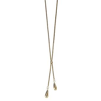 Elements Gold Double Teardrop Necklace - Gold