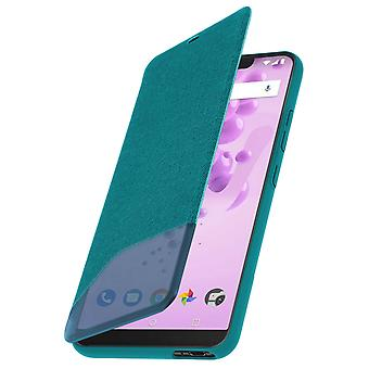 Official Wiko Smart Folio cover, shockproof case for Wiko View 2 Go - Green