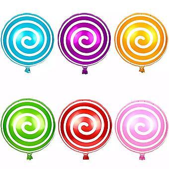 6pc Lollypop spirale papier bulle Pack multicolore fêtes d'anniversaire - par TRIXES