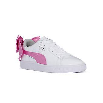 PUMA basket bow patent jewel jr fashion sneakers