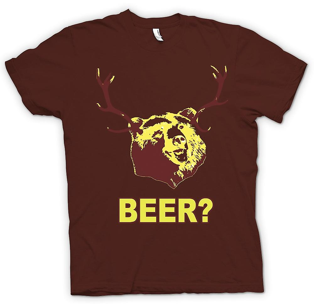 Mens T-shirt - BEER Bear Funny Drinking