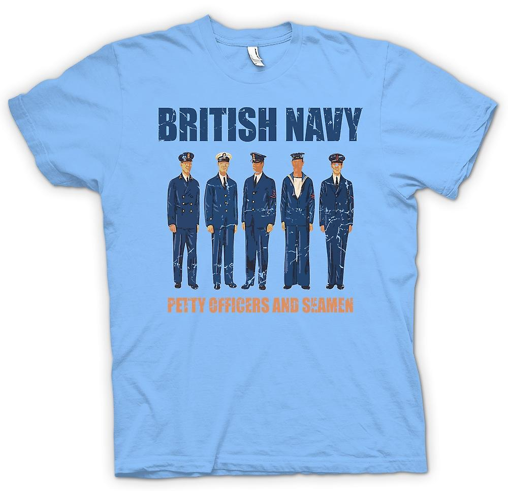 Mens T-shirt - British Navy - Petty Officers And Seamen