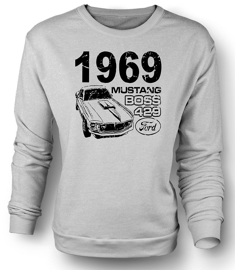 Mens Sweatshirt 1969 Mustang Boss 429 - Classic U.S. bil