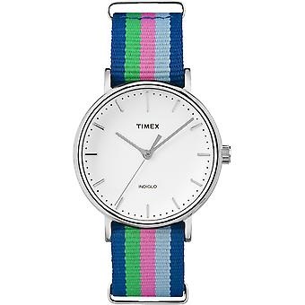 Timex Weekend argento Multi tessuto Strap Watch Unisex TW2P91700 37mm