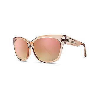Electric Nude Crystal-Ohm Champagne Chrome Gradient Danger Cat Womens Sunglasses