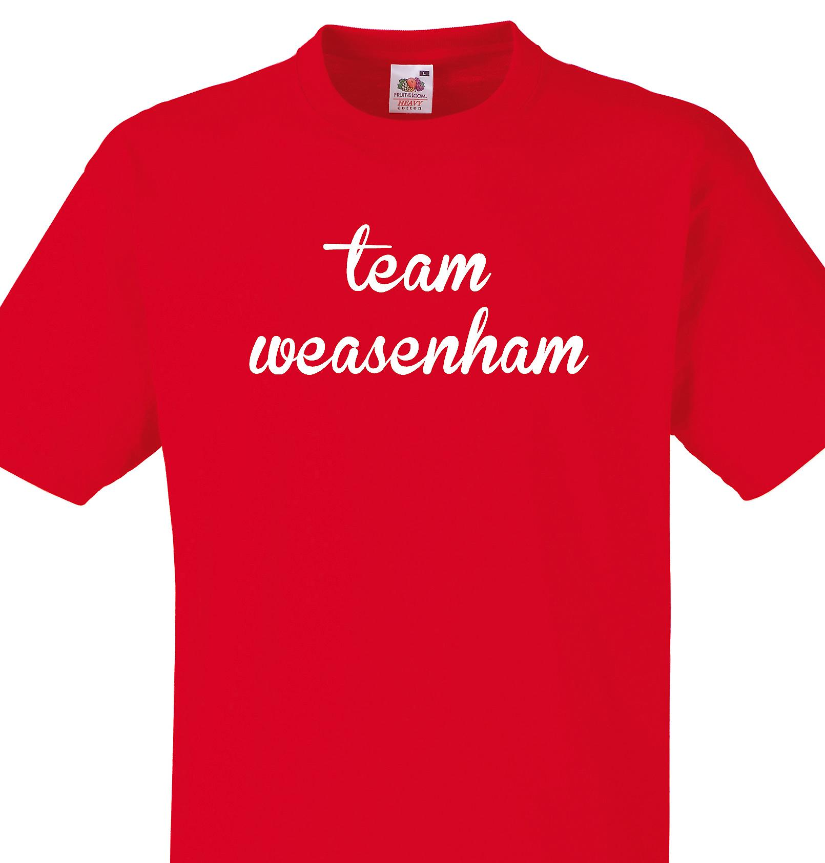 Team Weasenham Red T shirt
