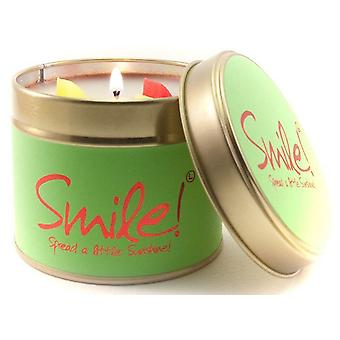 Lily Flame Scented Candle in a presentation Tin - Smile