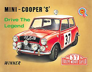 Mini Cooper S Steel Sign