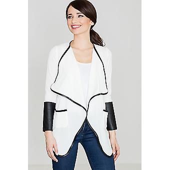 Lenitif ladies jacket, ecru and white
