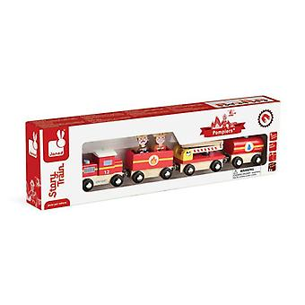 Janod Story Firefighter Train