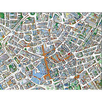 Городские улицы карта Лестер 400 кусок головоломки 470 x 320 мм (hpy)