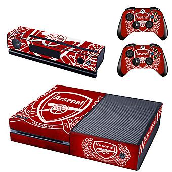 REYTID Arsenal Crest Xbox One Console Skin / Sticker + 2 x Controller Decals & Kinect Wrap - Full Set - Microsoft XB1