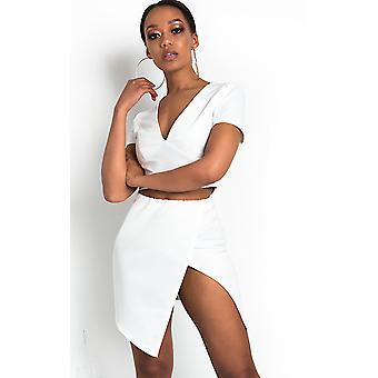 IKRUSH Womens Reegan Split Bodycon Mini Skirt