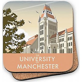 University of Manchester cork backed drinks coaster    (se)