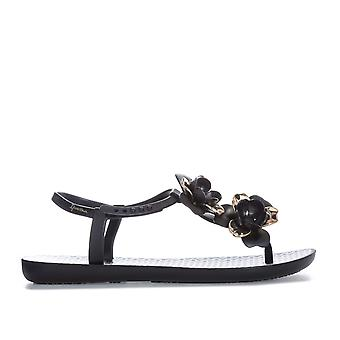 Womens Ipanema Floral Sandals In Black