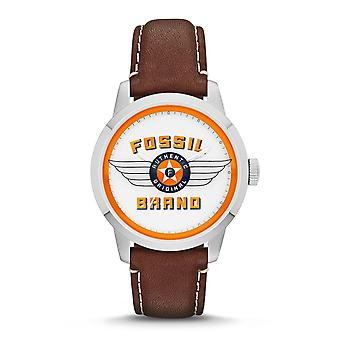 Fossil Townsman 30th Anniversary Edition Mens Silver & Brown Watch FS4896