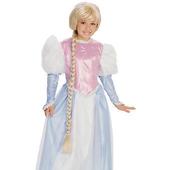 Księżniczka Roszpunka splątane długie blond warkocz bajki dziewcząt kostium Wig