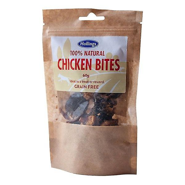 Hollings 100% Natural Grain Free Chicken Bites 60g