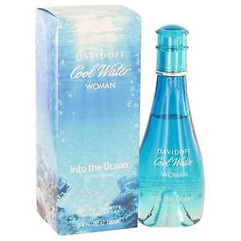 Cool Water Into The Ocean By Davidoff Eau De Toilette Spray 3.4 Oz (women) V728-502380