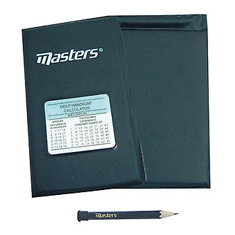 Masters Golf Deluxe Scorecard Holder With Handicap Calculator And Pencil