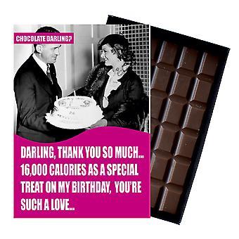 Funny födelsedag diet tema gåva för kvinnor boxed choklad gratulationskort present CDL110