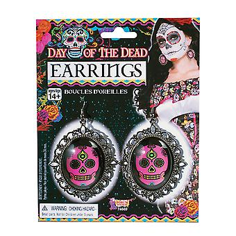 Bristol Novelty Day Of The Dead Earrings (Pair)