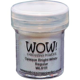 Wow ! Embossage poudre 15Ml Wow blanc brillant Opaque Wl01r