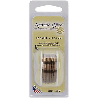 Colored Wire 22 Gauge 8 Yards Pkg Gun Metal 22Awg 24