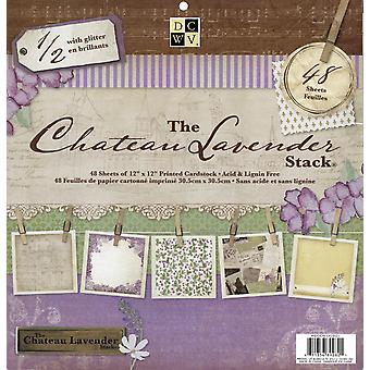 Chateau Lavender Paper Stack 12