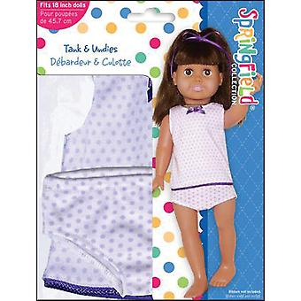 Springfield Collection Tank & Undies Purple Dot 3894F