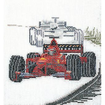 Motor Racing On Aida Counted Cross Stitch Kit 6 1 4