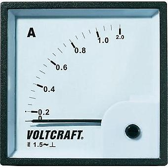 VOLTCRAFT AM-72X72/1A Analogue panel-mount measuring instrument