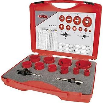 Hole saw set 12-piece RUKO 106303