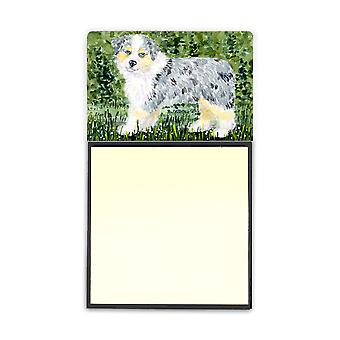 Australian Shepherd Refiillable Sticky Note Holder or Postit Note Dispenser SS8846SN