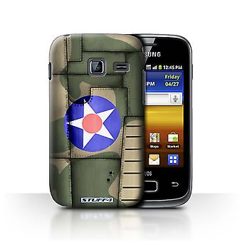 STUFF4 Case/Cover voor Samsung Galaxy Y Duos/S6102/Amerika/groen/Airplane Fighter Wing