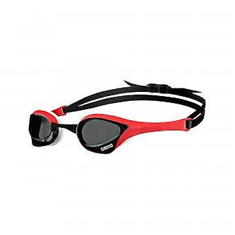 Arena Cobra Ultra Swim Goggle-Smoke Lens-Red/White Frame