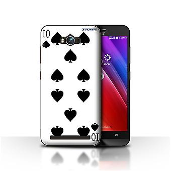 STUFF4 Case/Cover for Asus Zenfone Max ZC550KL/10 of Spades/Playing Cards