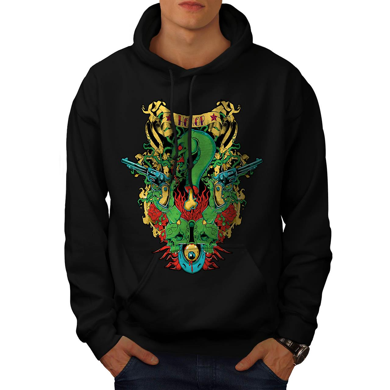Dragon Death Honour Snake Myth Men Black Hoodie | Wellcoda