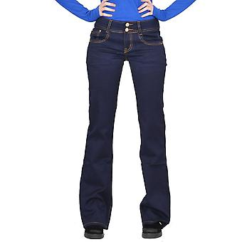 Dark Bootcut Flared Stretch Hipster Jeans - Indigo Blue