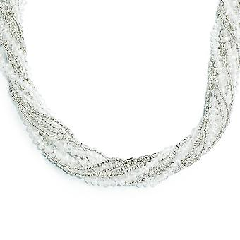 Clear Austrian and CZech Crystal With Glass Beads Slip Necklace