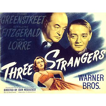 Three Strangers Geraldine Fitzgerald Sydney Greenstreet Peter Lorre 1946 Movie Poster Masterprint
