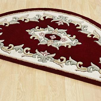 Royal Aubusson Half Moon Rugs In Red Cream