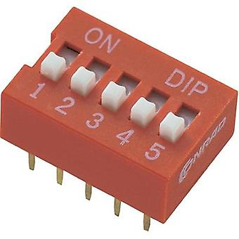 DIP switch Number of pins 6 Standard TRU COMPONENTS DS-06