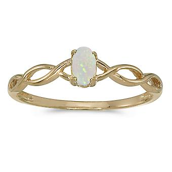 10 k Gelb Gold Oval Opal Ring