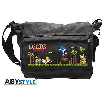 Abysse Sonic Messenger Bag Green Hills Level Big Size