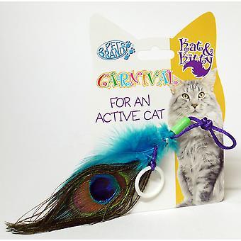 Påfugl fjer kat stykke legetøj