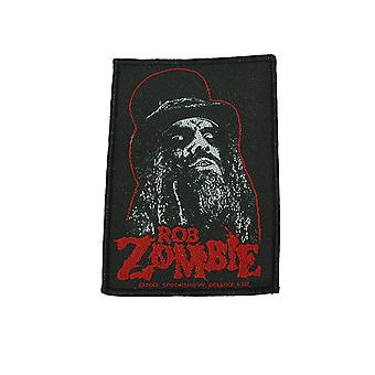 Rob Zombie Portrait Woven Patch