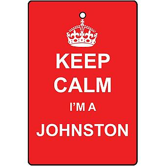 Keep Calm jeg en Johnston bil luftfriskere